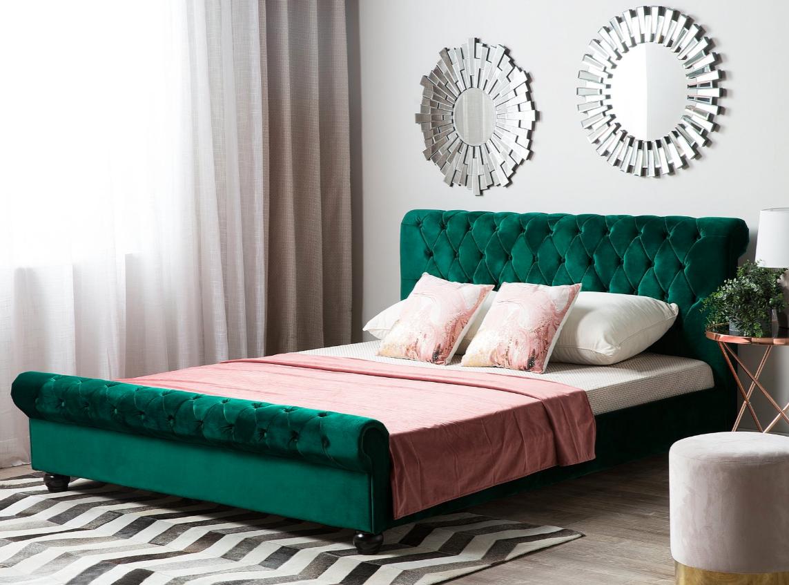 50€ Rabatt ab 250€ Bestellwert (auch Sale) bei Beliani, z.B. Samt-Polsterbett mit Lattenrost (180x200cm) in verschiedenen Farben & Größen