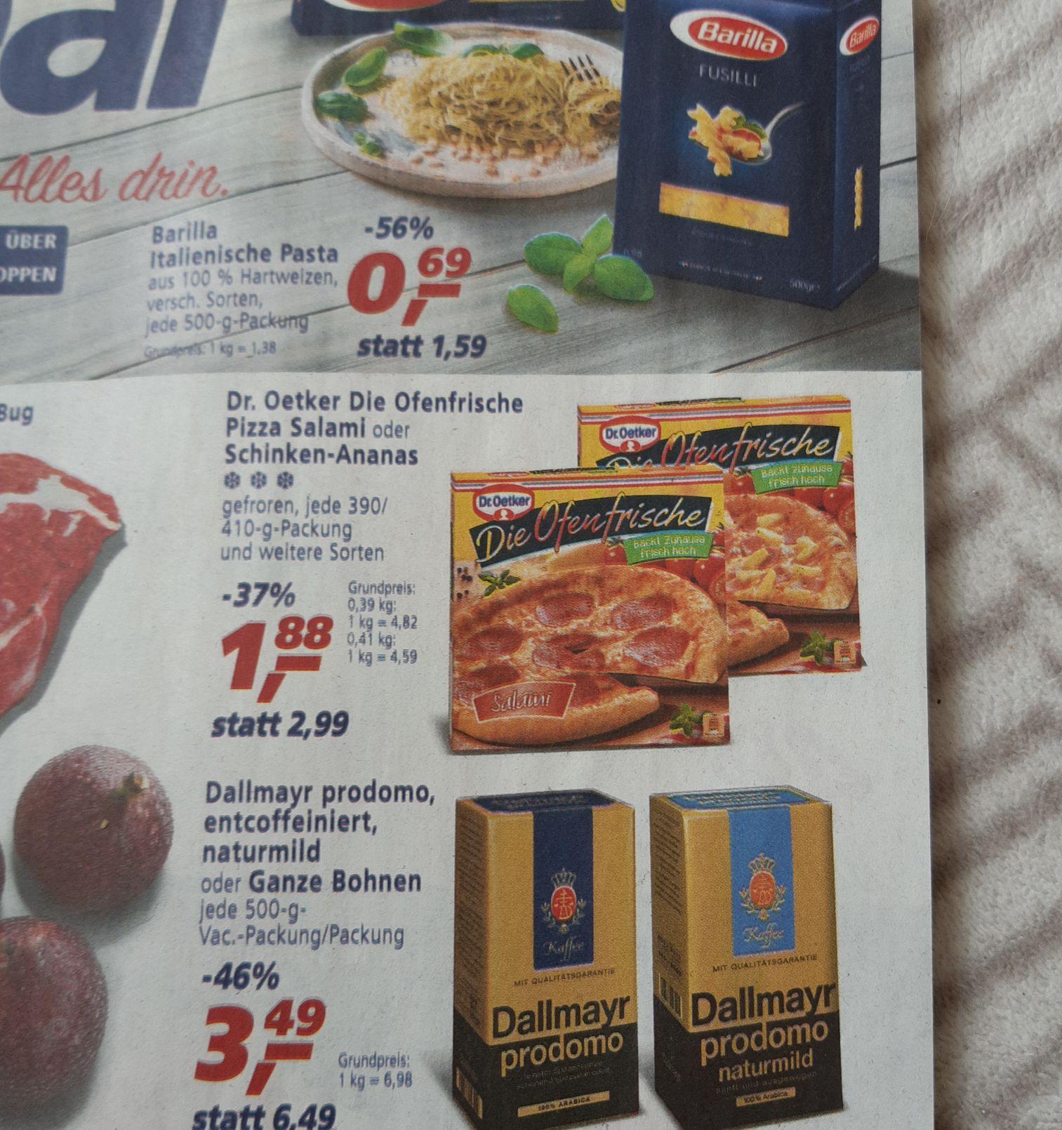 [Real ab 16.09] Dr.Oetker-Die Ofenfrische Pizza in verschiedenen Sorten. 390g bis 415g für je 1,88, -
