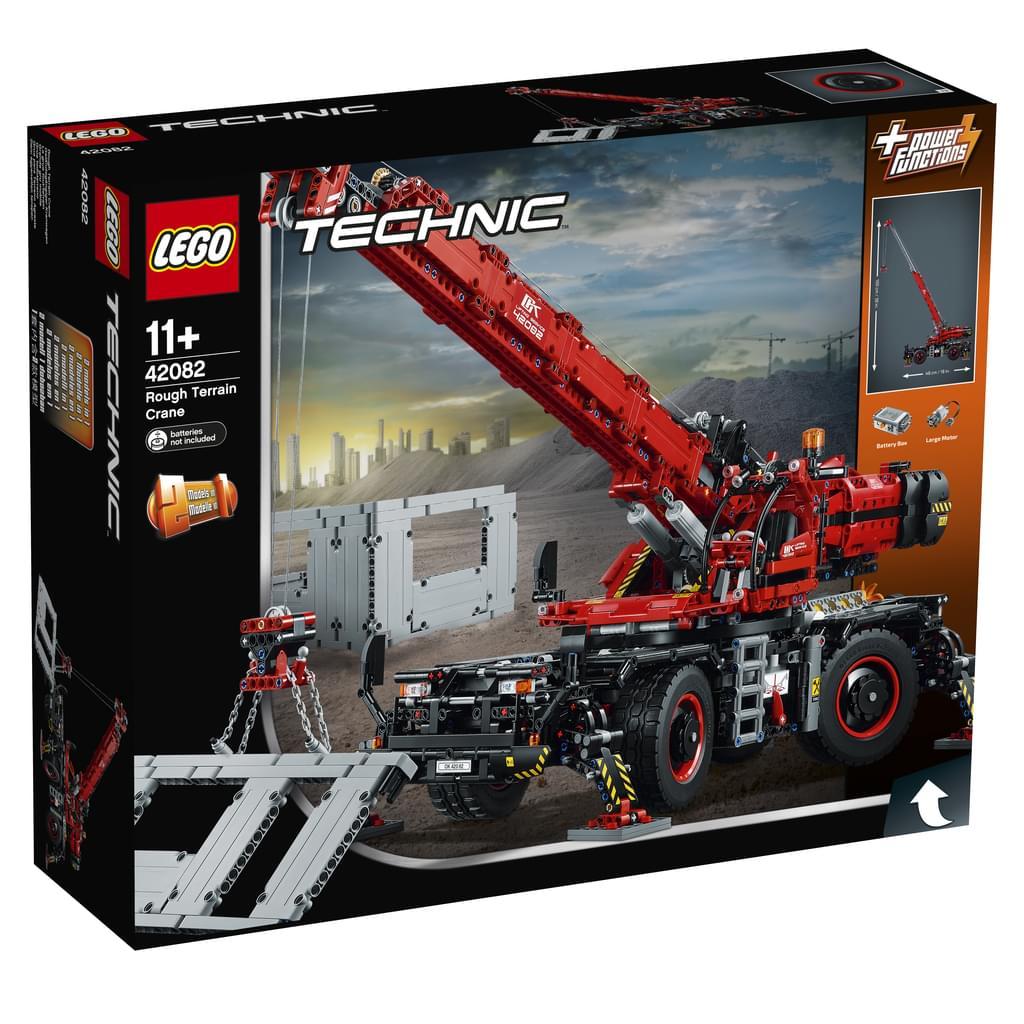 Lego: Geländegängier Kranwagen 42082 auf REAL.de am Sonntag für 159 €