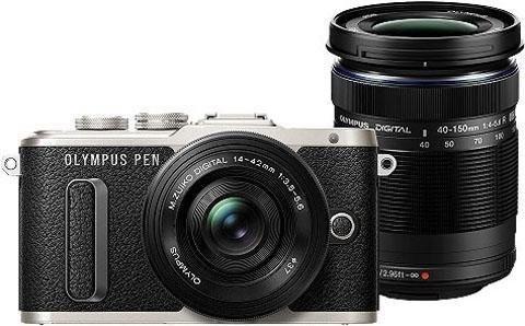Bundle: Olympus Pen E-PL8 mit 14-42mm Pancake Objektiv + 40-150mm Zoomobjektiv (Kit: f/3.5-5.6 |Zoom: f/4.0-5.6)