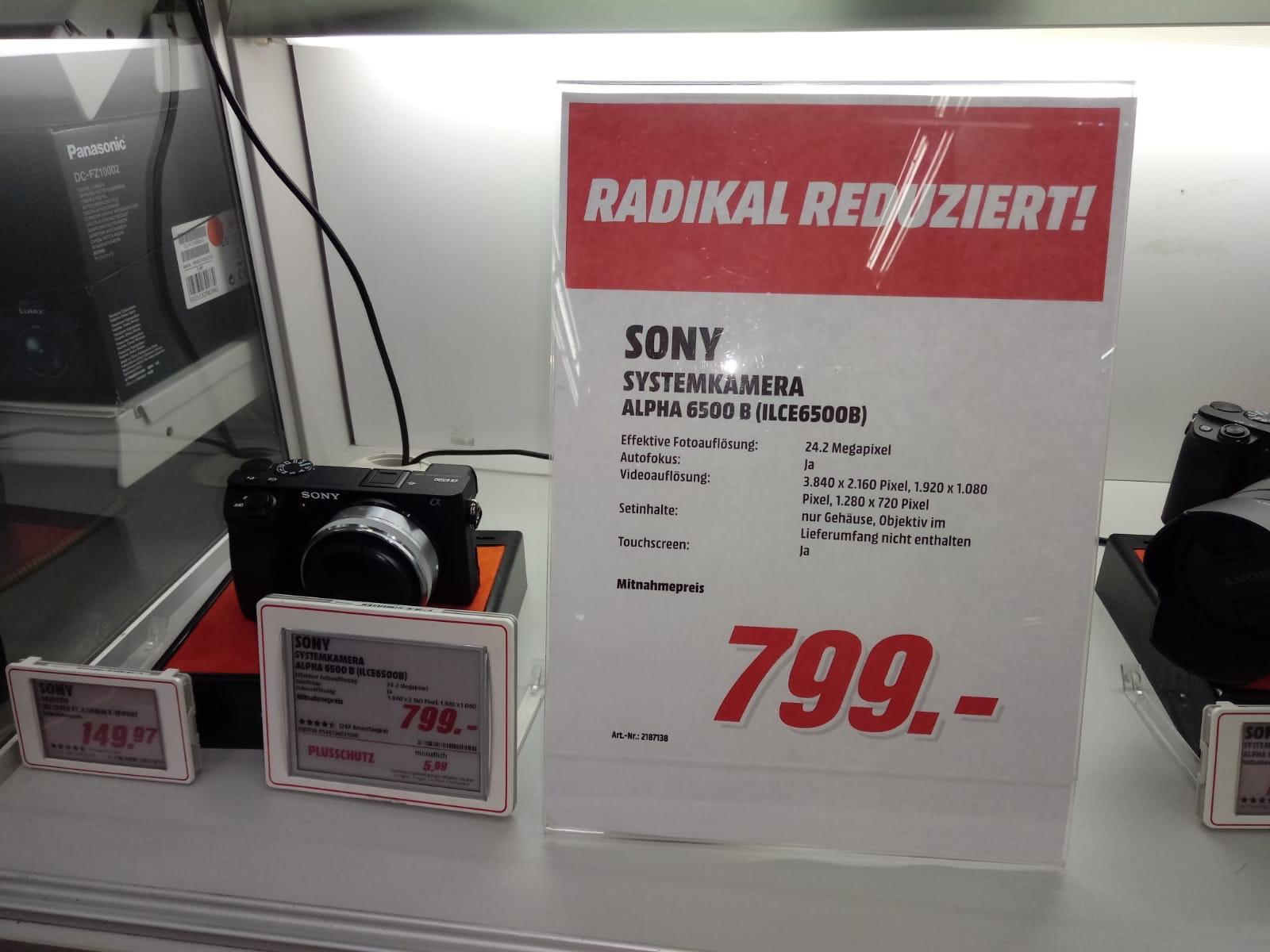 [Lokal MediaMarkt Bonn] Sony Alpha 6500 Gehäuse Sytemkamera