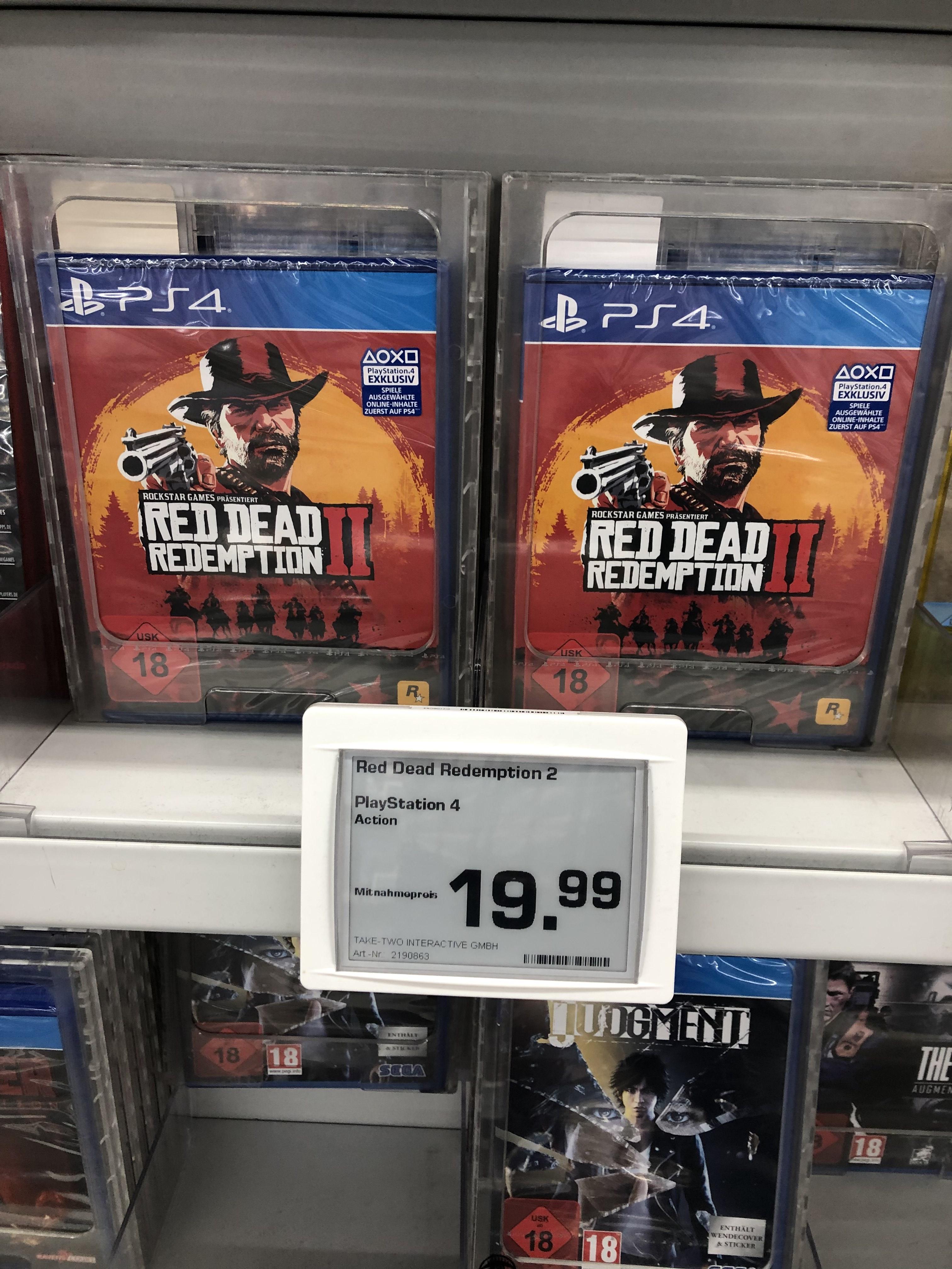 [Lokal Berlin-Spandau Saturn] Red Dead Redemption 2 für PS4/X-Box One