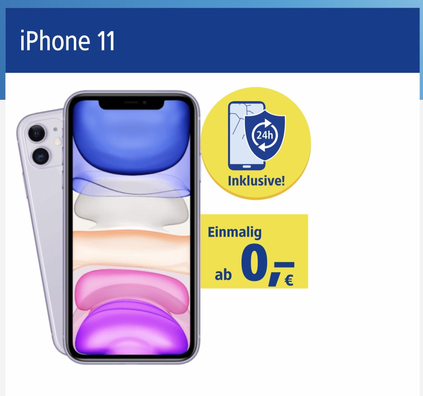 1&1 Tarif All-Net Flat mit 25 € Startguthaben, 24 Stunden Austausch-Service, neues iPhone 11 u.v.m.