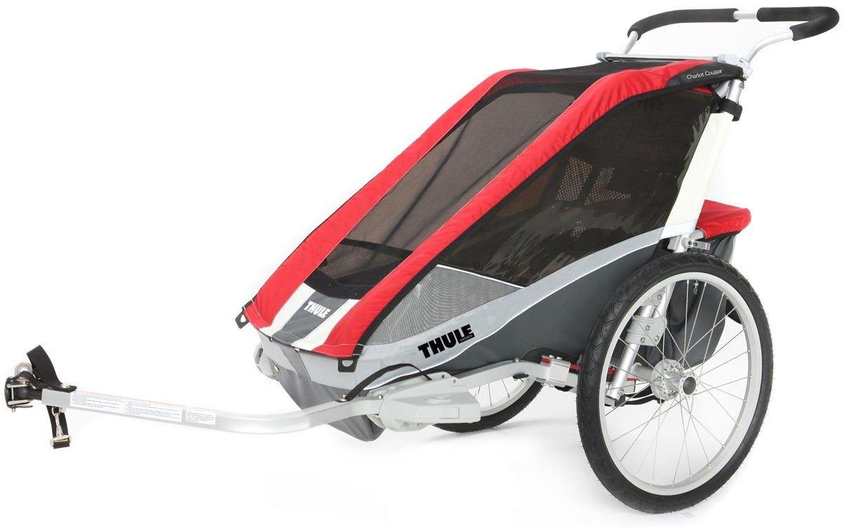 Thule Chariot Cougar 2 Red [2014 er Modell] inkl. Fahrradkit