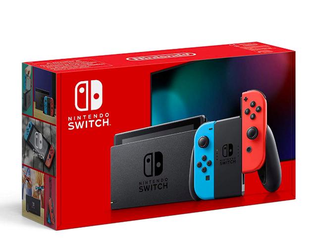Nintendo Switch Konsole blau/neonrot neue Edition