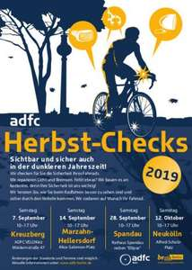 [Lokal Berlin] ADFC Herbst-Checks 2019