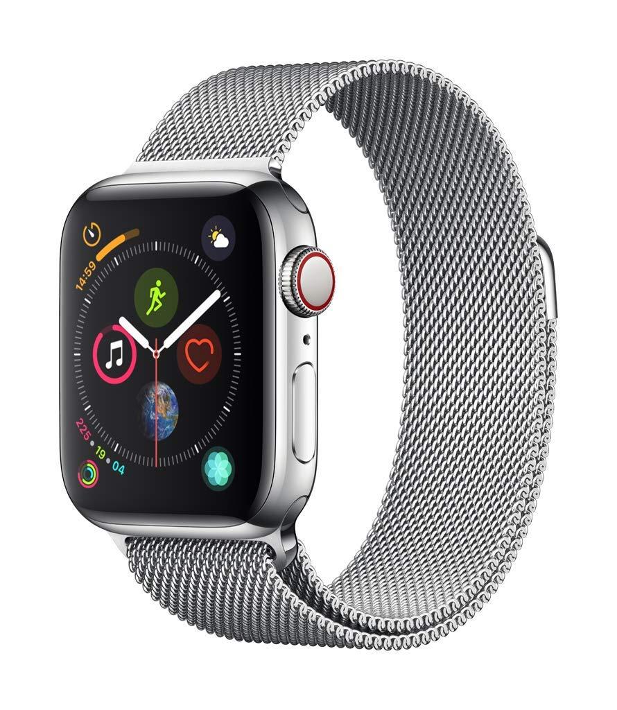 [Amazon.co.uk]  Apple Watch Series 4 Edelstahl im Abverkauf z.B. GPS + Cellular 40mm Milanaise silber für 607€