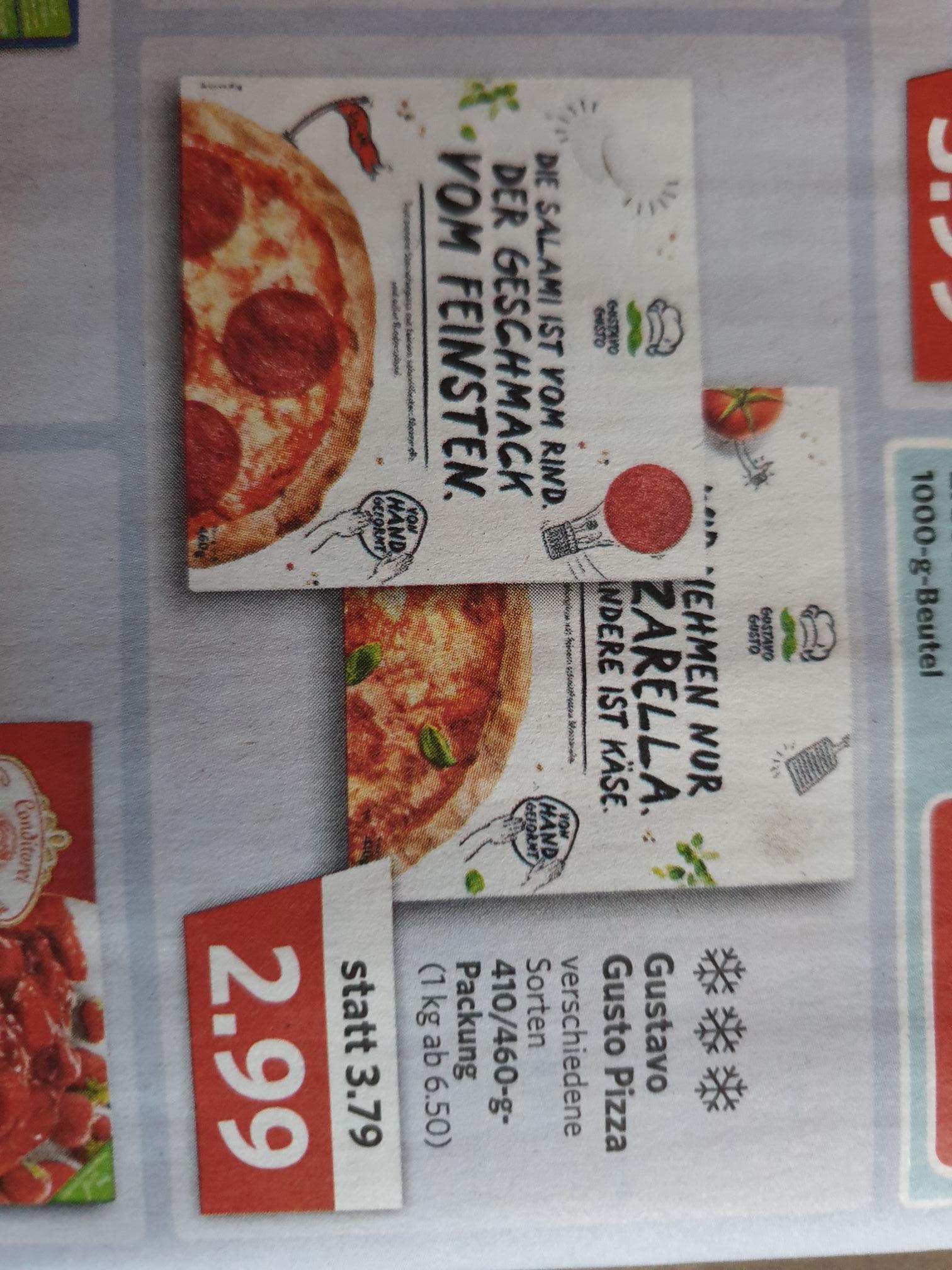 (Combi/Jibi-Markt) Gustavo Gusto Pizza versch. Sorten 2,99€