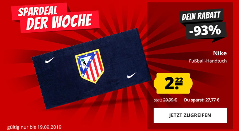 Nike Atletico Madrid Handtuch 100x50 cm, Einzelpreis 2.22 €, bis zu 5 Stück, dann Einzelpreis 3.01 € inkl. Versand (OVP 29.99 €)