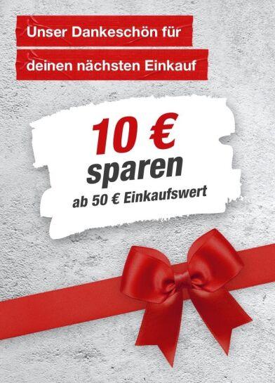 10€ sparen ab 50€ Einkaufswert [toom Baumarkt]