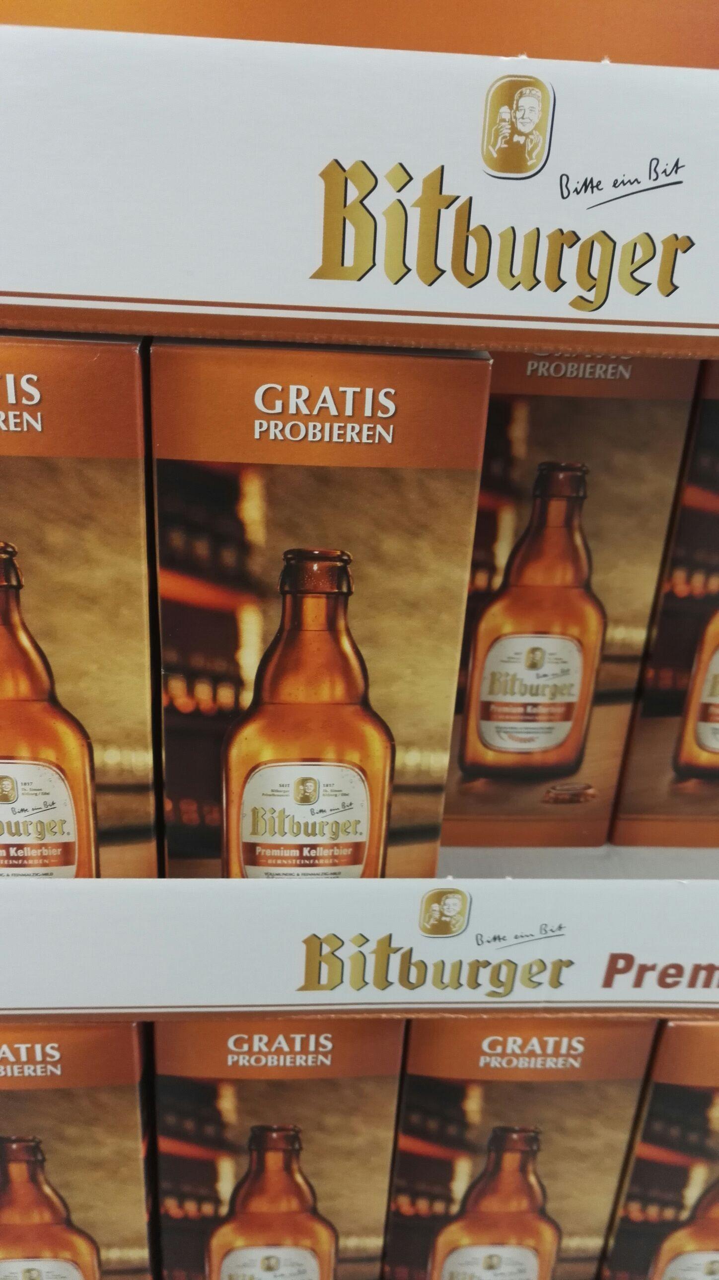 Bitburger Kellerbier / Radler kostenlos + Pfand | real Karlsruhe Durlacher Center [lokal?] | Bier Freibier