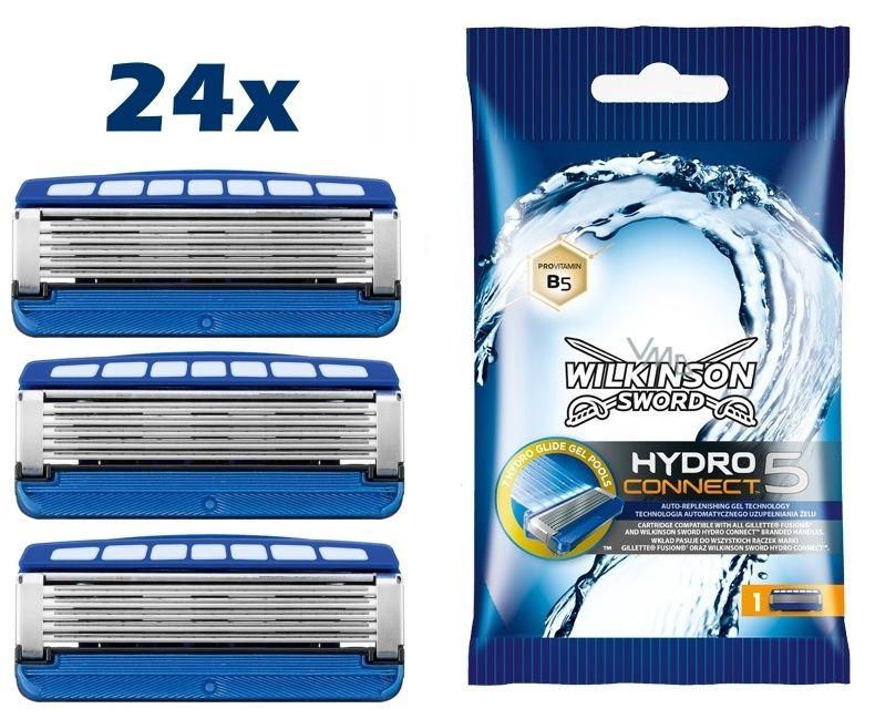 24x Wilkinson Sword Hydro Connect 5 Rasierklingen für Herren Rasierer