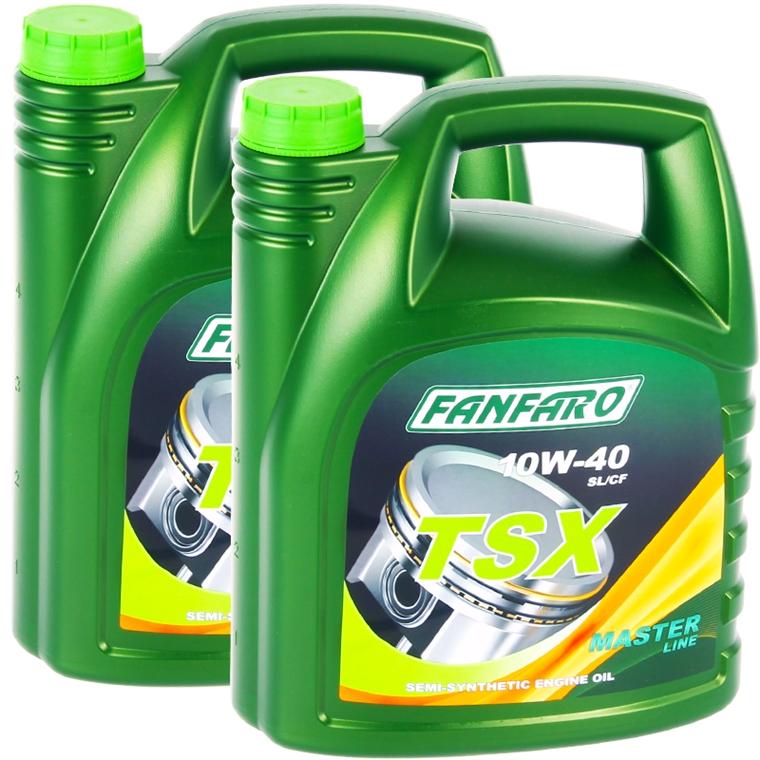 10 Liter FANFARO 10W40 TSX Motor-Öl