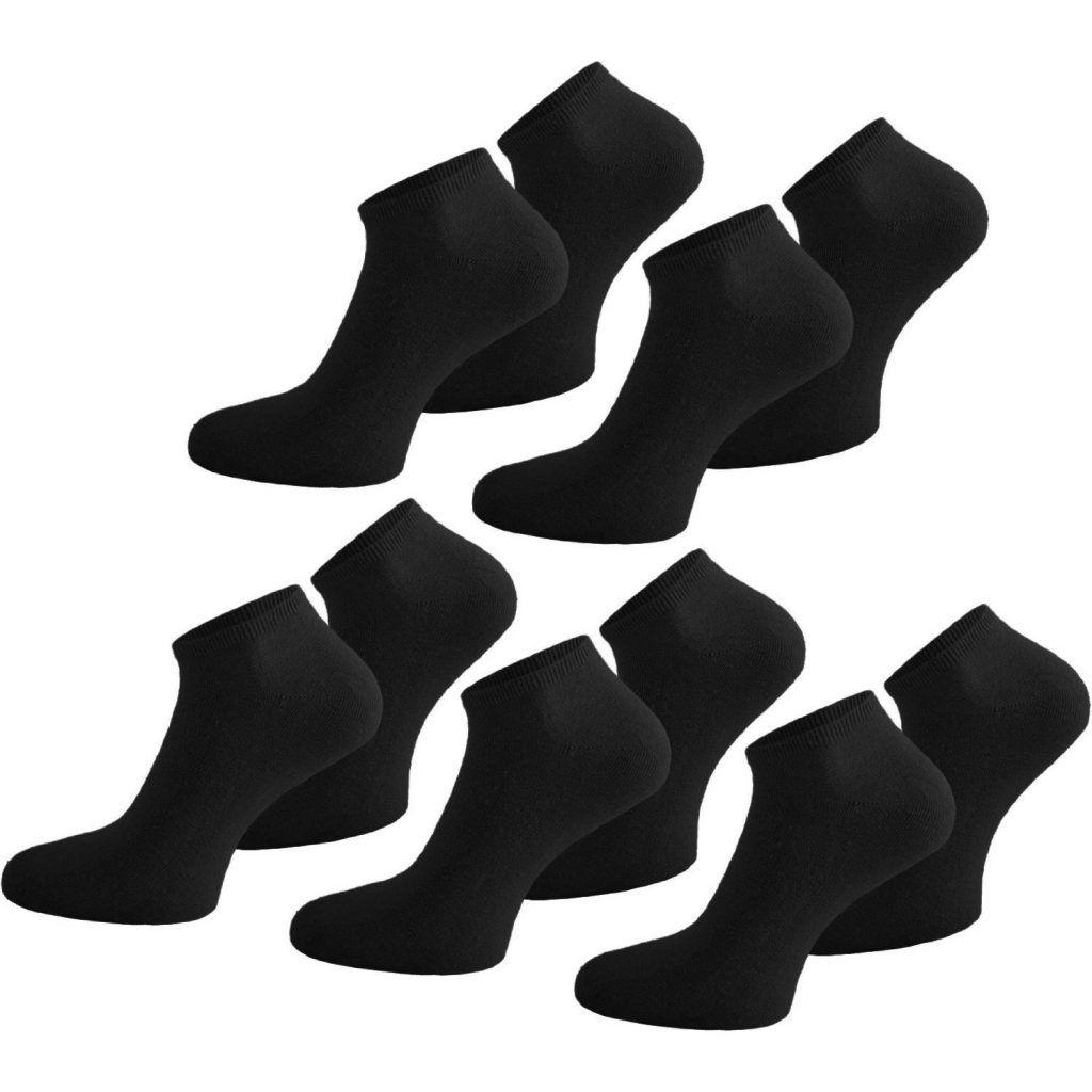 normani 20 Paar Sneaker Socken Original American Lifestyle hoher Baumwollanteil Farbenset im Auswahl