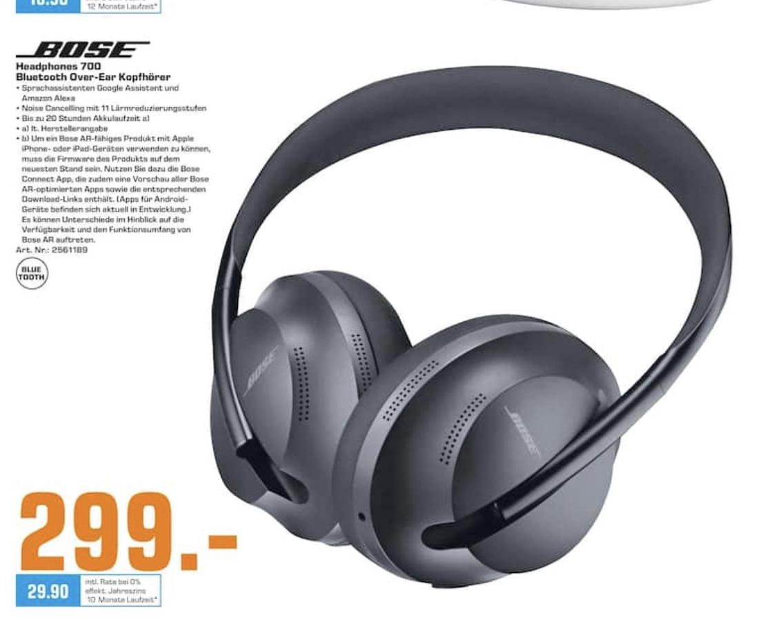 [Lokal: Saturn Bremen] Bose Noise Cancelling Headphones 700 (Over-Ear, Black)
