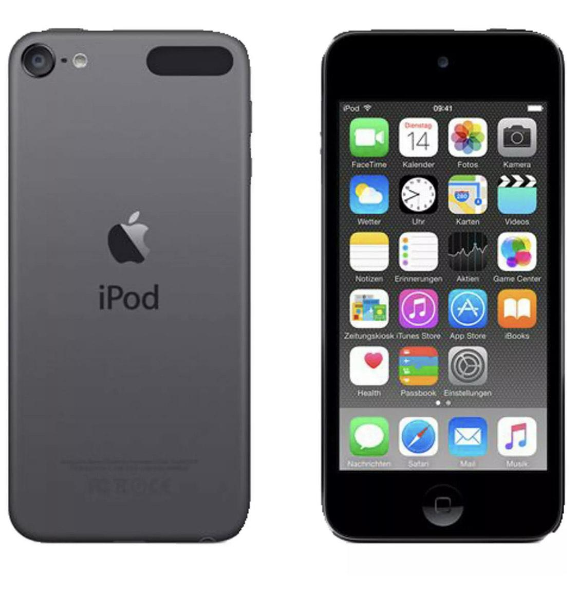 Apple iPod  32GB 6. Gen space grey über ebay/Mediamarkt-Aktion kaufen und bei ReBuy für 140,39 Euro verkaufen (+2,5 Prozent Shoop)