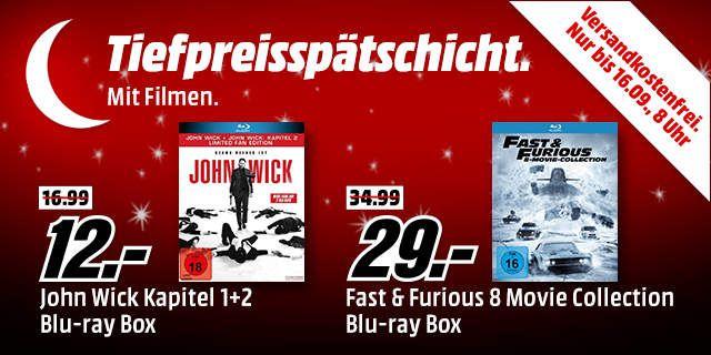 Filmboxen (BluRay und DVD) stark reduziert bei MediaMarkt Tiefpreisspätschicht