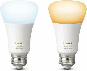 Philips Hue White Ambiance E27 LED Lampe Doppelpack, dimmbar, alle Weißschattierungen, steuerbar via App für 32,17€ (Amazon UK)