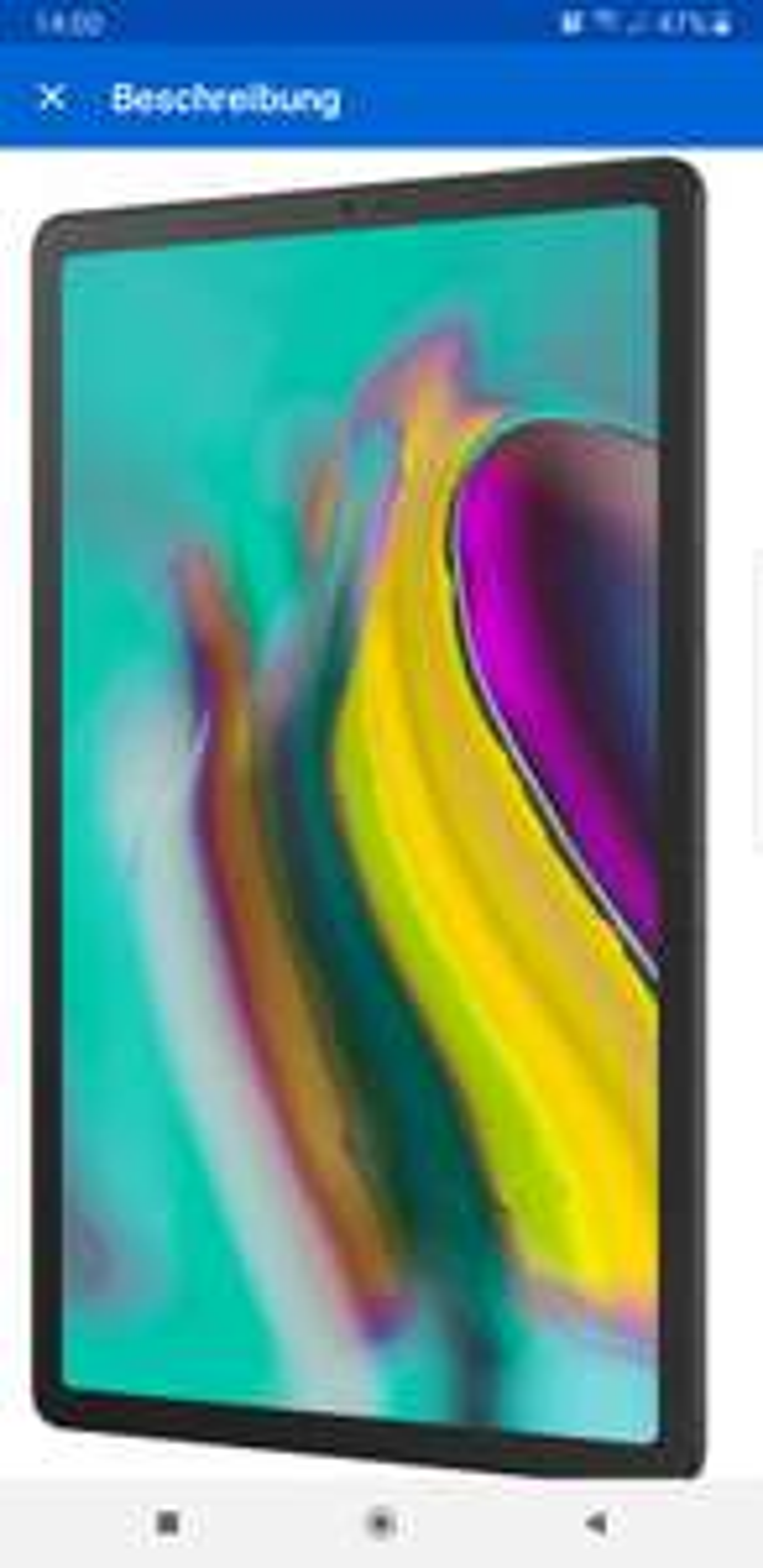 Galaxy tablet S5E bei ebay mit 10% Gutschein