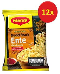 [Amazon Prime] Maggi Asia Instant Nudeln Snack Ente/Huhn/Curry/Chili/Shrimps 12er Pack (0,56€ pro Stk via Sparabo)