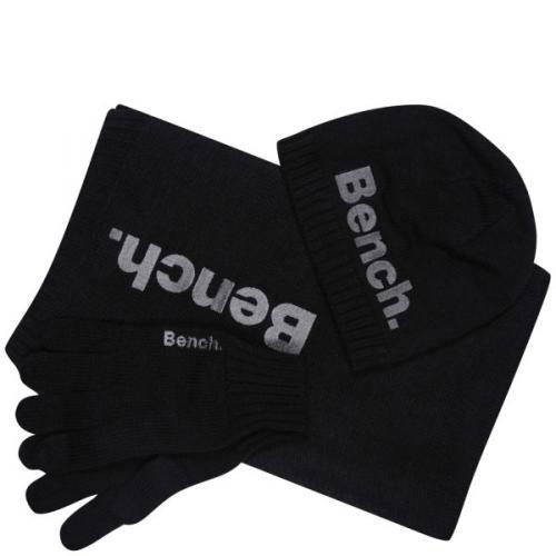 Kommt wie gerufen: Bench Schal+Mütze+Handschuhe Geschenkset schwarz @zavvi