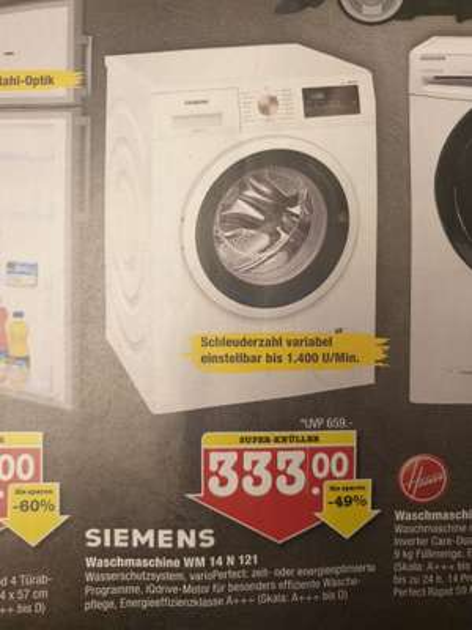 [lokal E-Center Kuppenheim] Waschmaschine Siemens WM14N121  1400U/Min.  7kg   A+++