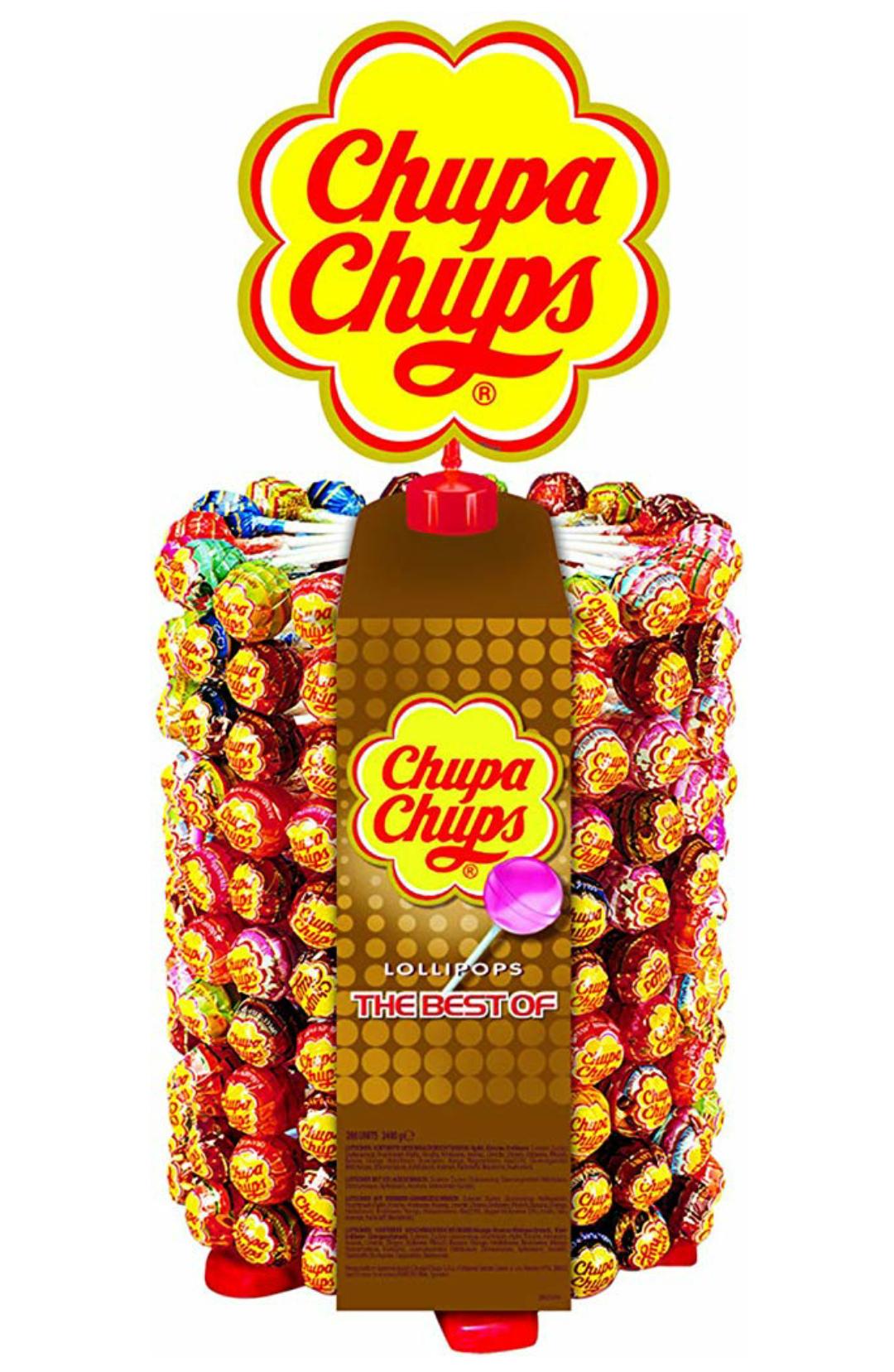 Chupa Chups 180er Lutscherrad plus 20 Lollis gratis | Lollipop-Ständer mit 7 leckeren Geschmacksrichtungen (im Spar-Abo günstiger)