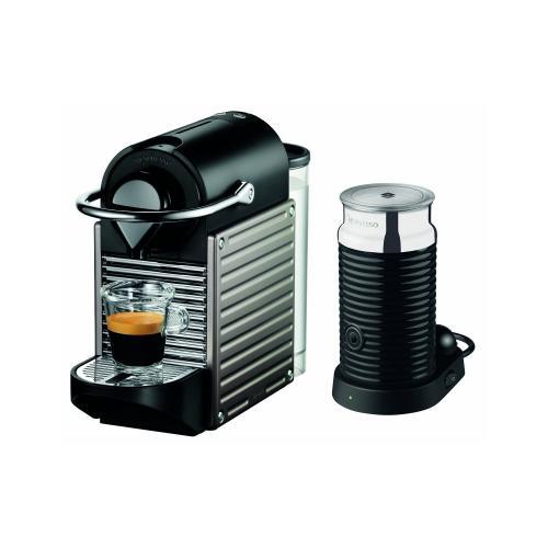 Nespresso Pixie Electric Titan mit Aeroccino³ und 50€ Gutschein für 149€ @ Amazon.de