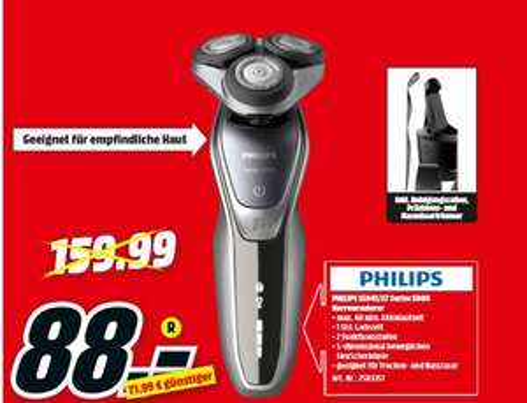 [Regional Mediamarkt Berlin/Brandenburg-Alle 19 Filialen ab 18.09] Philips S5941/27 Series 5000 Rasierer anthrazit/silber für 88,-€