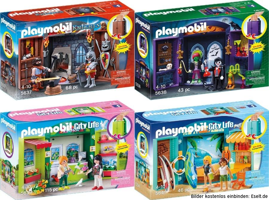 Playmobil™ - Aufklapp-Spiel-Box 5637,5638,5639,5641 ab €8,13 [@Galeria-Kaufhof.de]