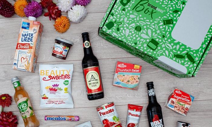 brandnooz Classic Box für 6,39€: Überraschungs-Lebensmittelbox mit 10-12 Markenprodukten im Wert von mindestens 18€