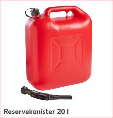 Reservekanister für Kraftstoffe 20L für 4,99 Euro, 10L für 3,99 Euro [Kaufland]