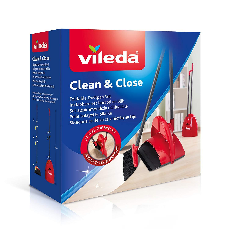 Vileda Clean & Close Kehrset Box - klappbares Kehrschaufelset für 15,99€ bzw. 13,60€ (Müller)