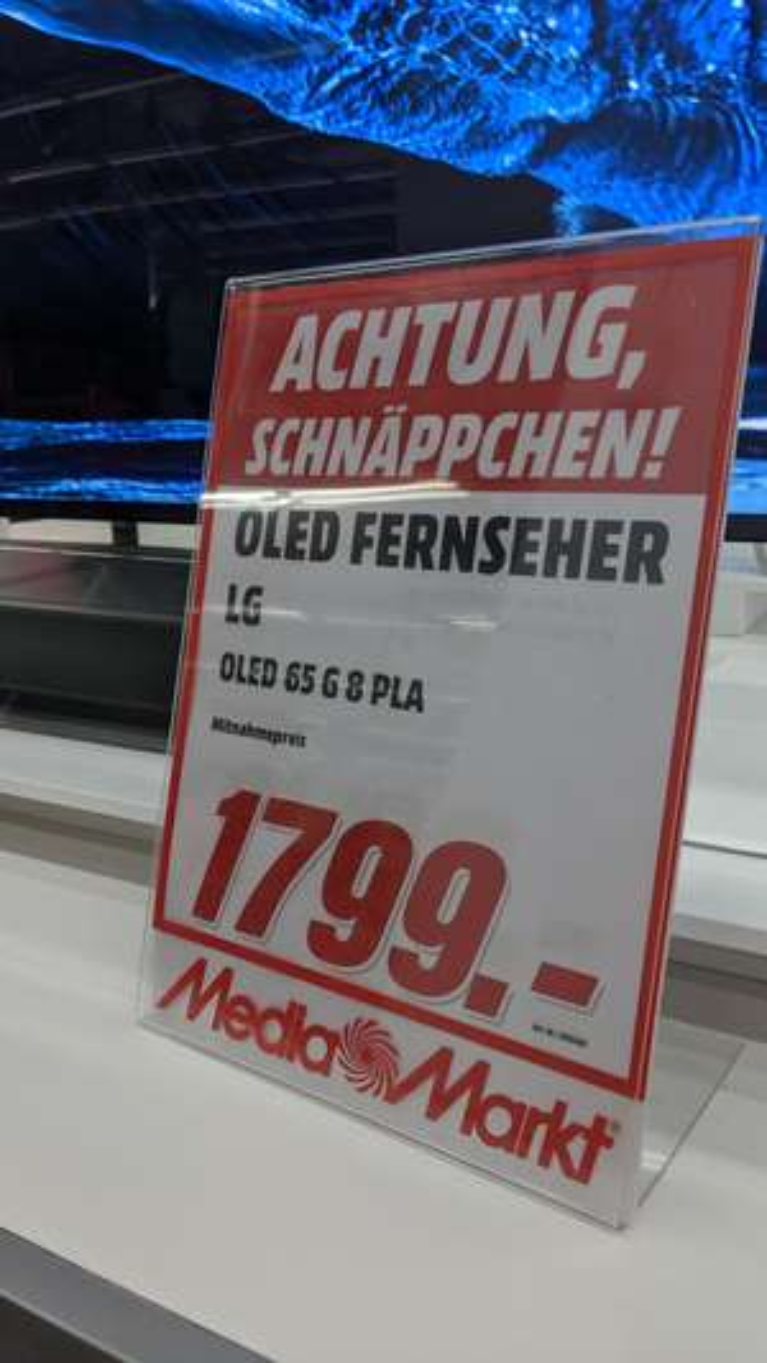 LG Oled 65G8 für nur 1.799€ bei Media Markt Düsseldorf Bilker Acarden