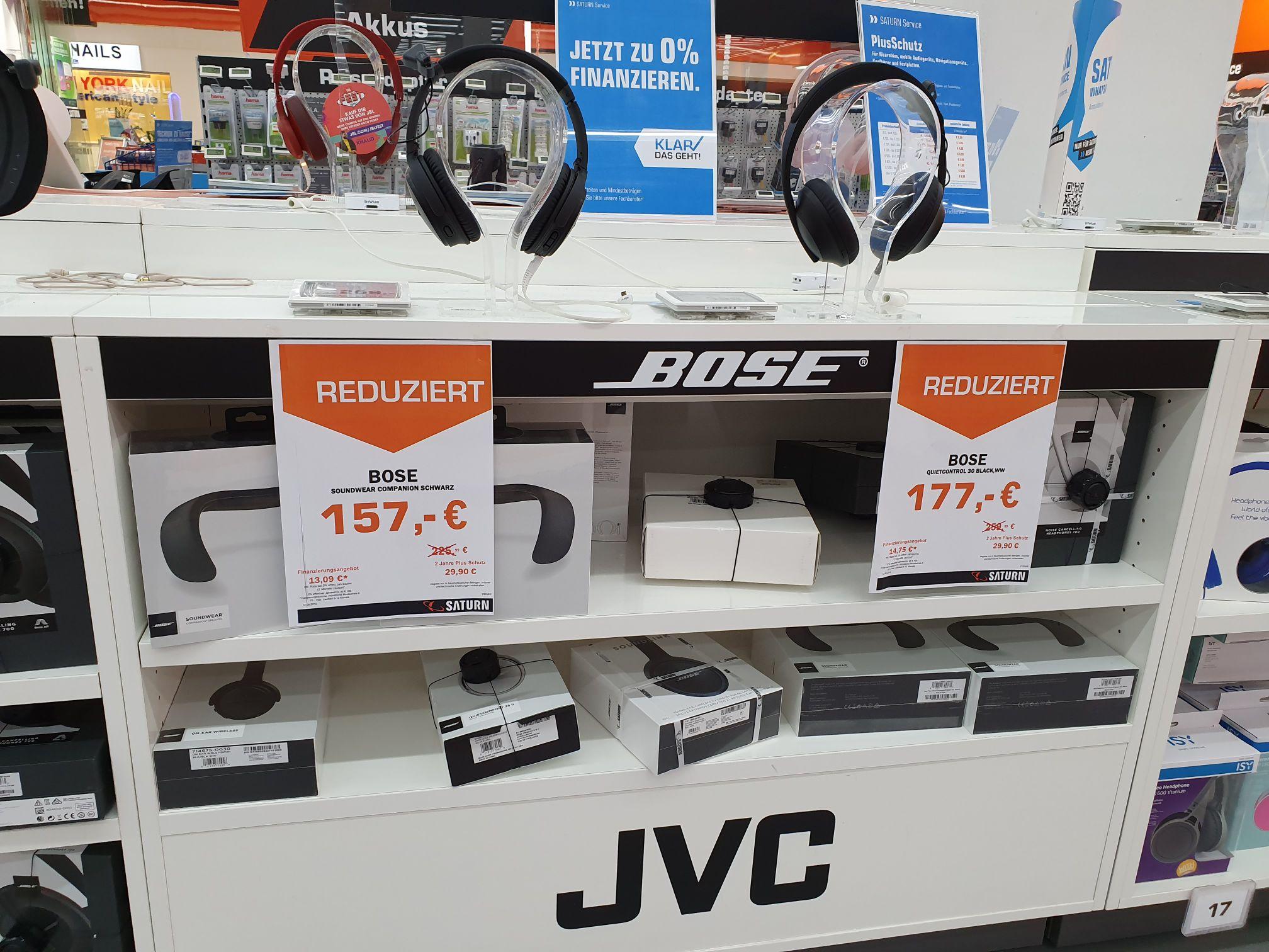 [Lokal Saturn KA Durlach] Bose Soundwear für 157 und Quietcontrol 30 für 177