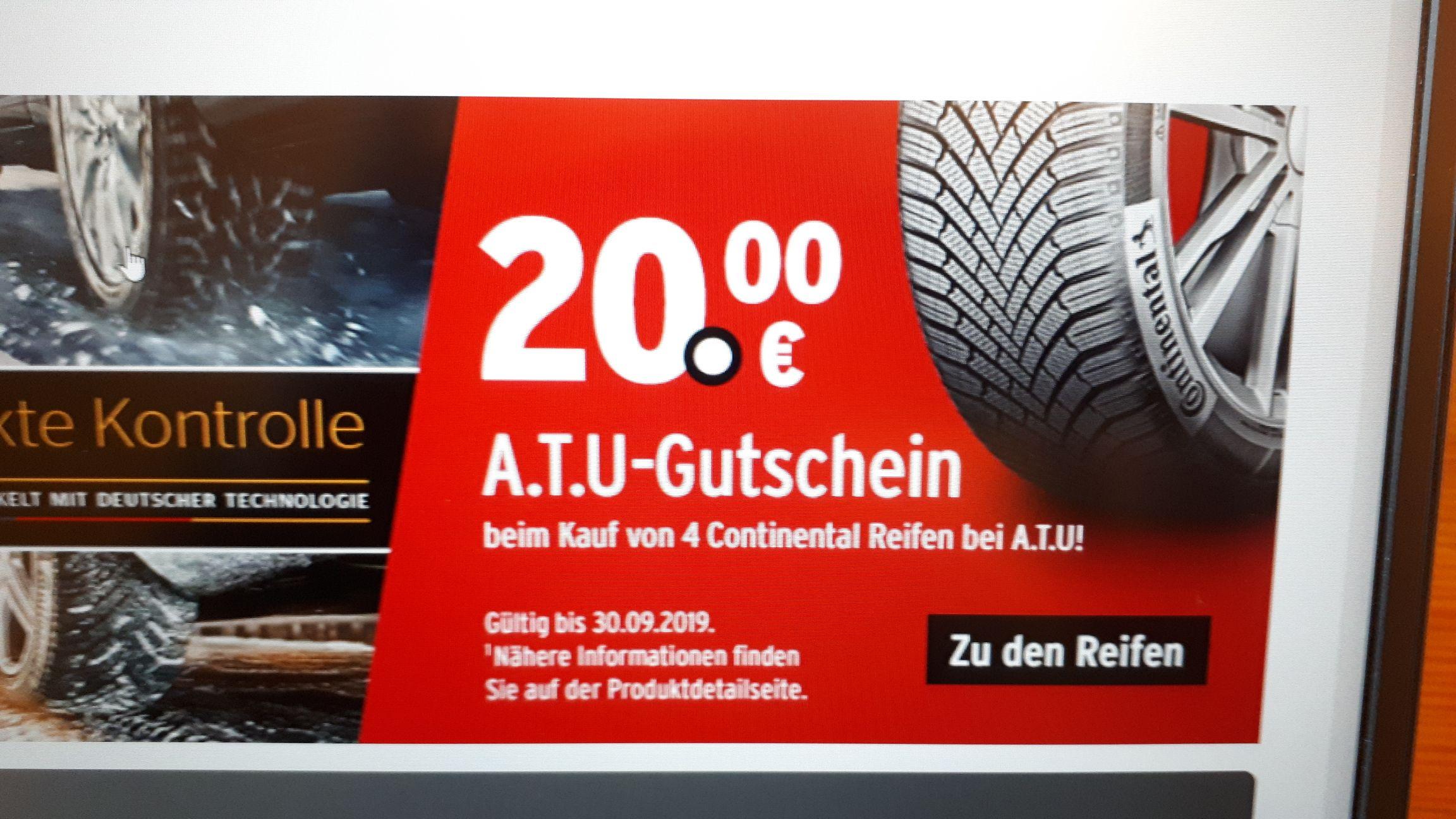 [A.T.U.] Gutschein über 20,- € beim Kauf von 4 Continental-Reifen