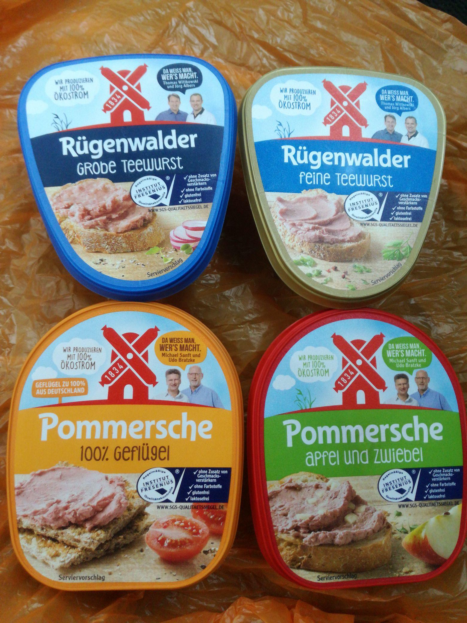 [Kaufland] Rügenwalder - Teewurst + Leberwurst - alle Bechervarianten
