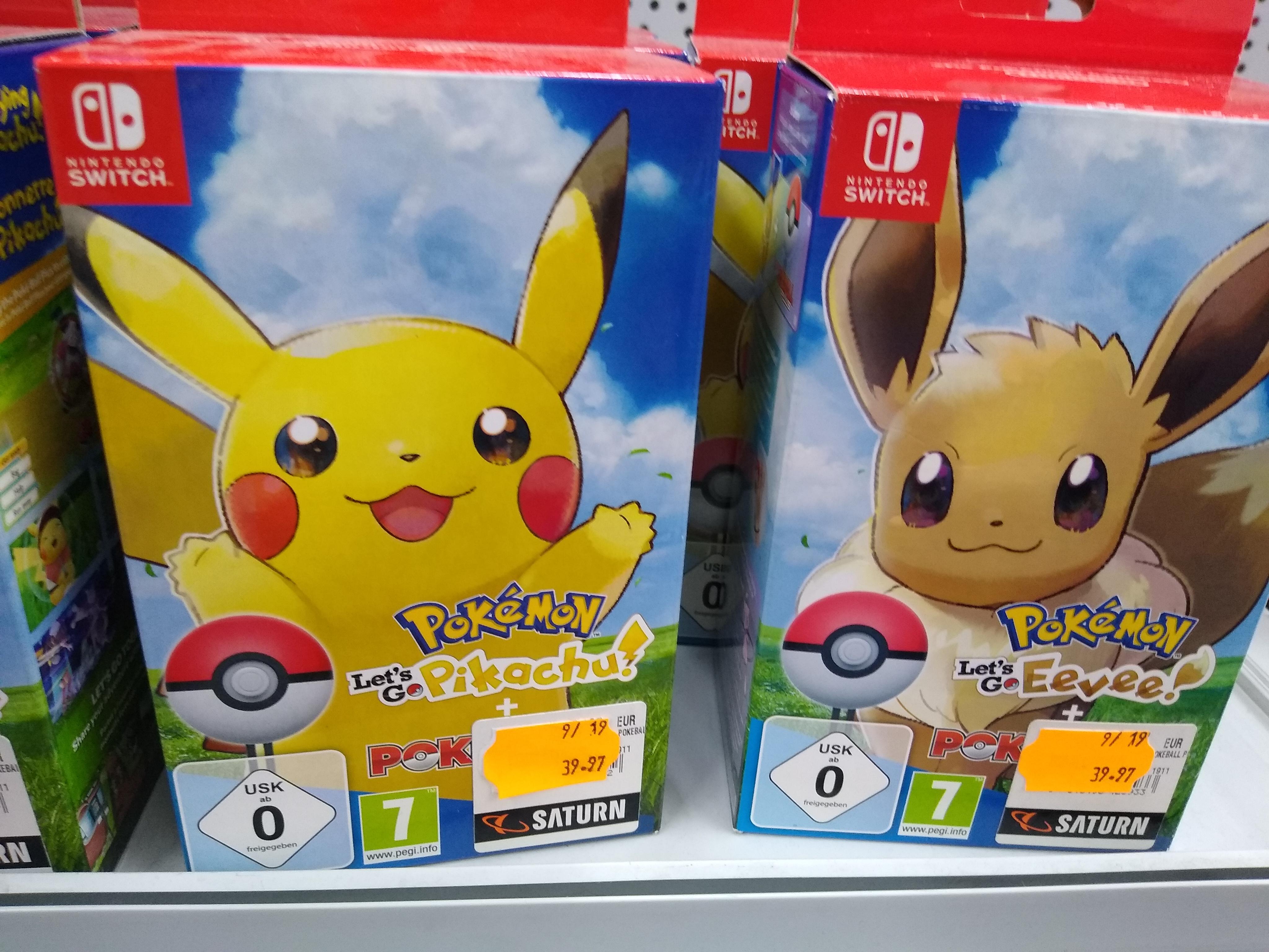 [Lokal Saturn Düren] Pokémon Let's Go Pikachu + Pokéball Plus