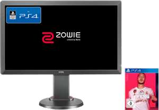 [Mediamarkt/Saturn] BENQ ZOWIE RL2455TS + PS4 FIFA 20 Bundle, Full-HD Gaming Monitor (1 ms Reaktionszeit, 76 Hz) für 169,-€