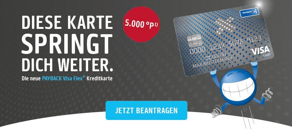 (VISA Kreditkarte) 5.000 Punkte für Payback VISA Flex+