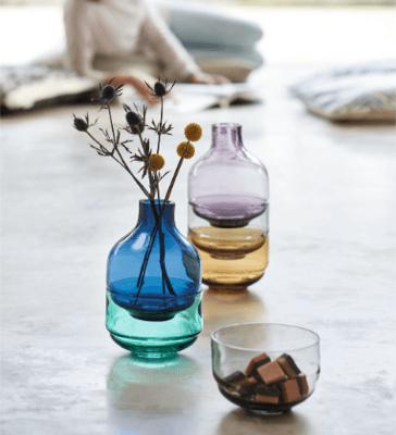 2 für 1-Aktion: 3-teiliges Set Fusione von Leonardo mit zwei Schalen und einer Vase (in Blau oder Lila)