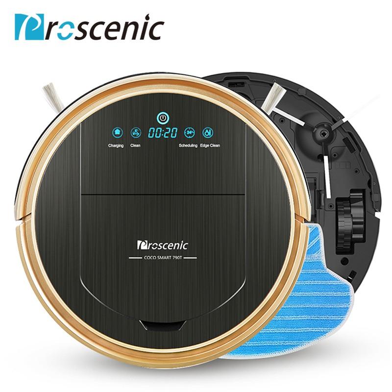 Saugroboter Proscenic 790T (1200pa-Motor, Wischfunktion, ca. 80min Akkulaufzeit, visuelle Karte, Alexa-Sprachsteuerung) + 22€ in RSP
