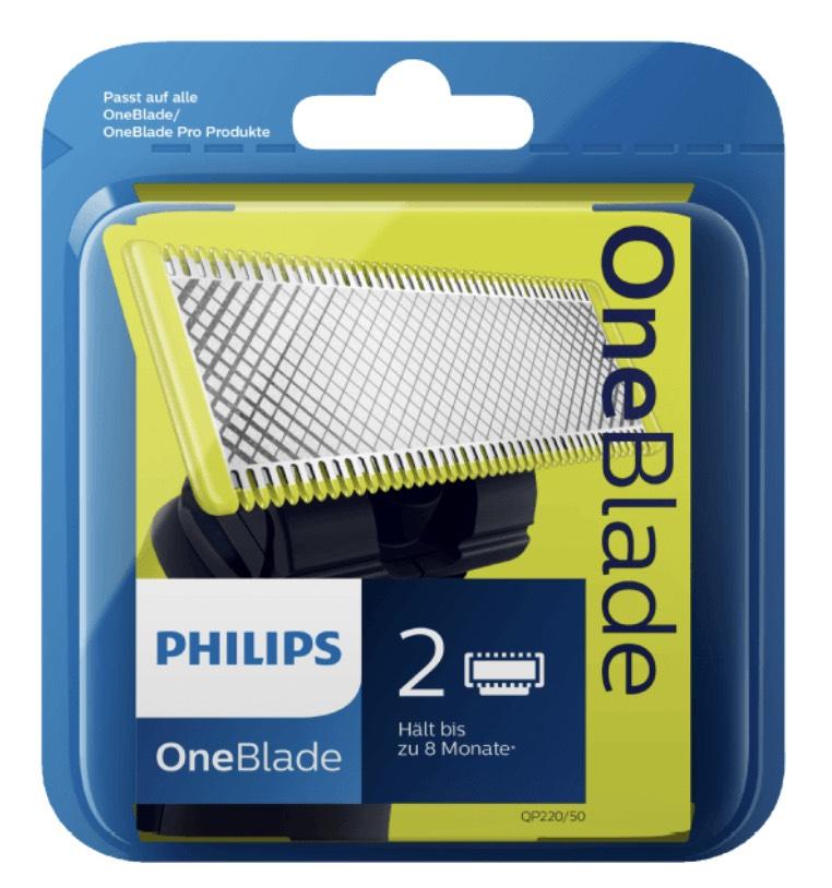 PHILIPS OneBlade Ersatzklinge 2er-Pack - (Mit 30% Gutschein für 17,49€) [Philips]