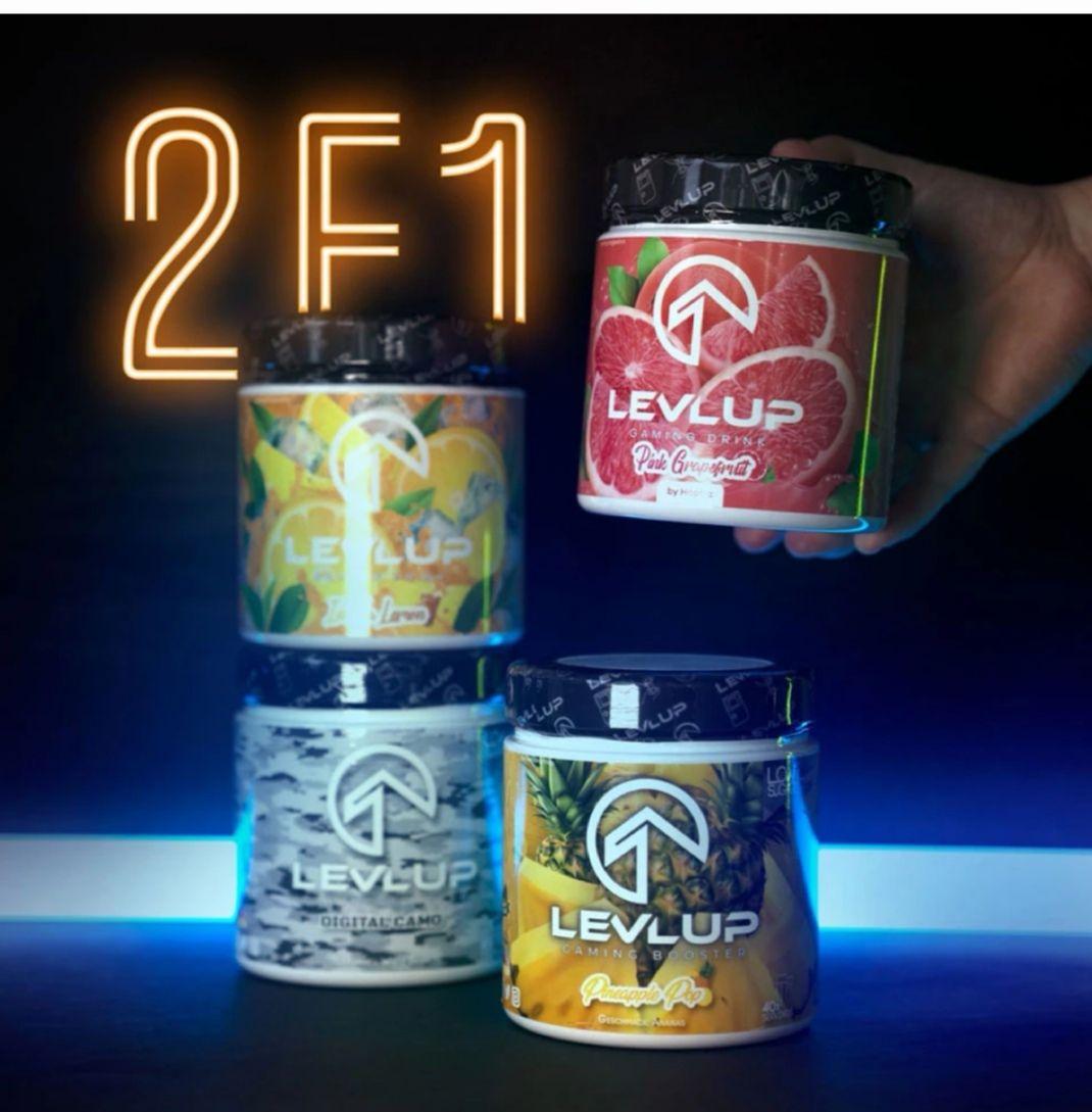 LevlUp Gaming Booster 2for1 Aktion / 2 Dosen + 2 Shirts, 2 Shaker und mehr für 44,89€