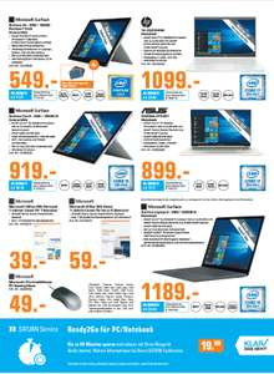 [Lokal Saturn Frankfurt] Surface Go 128Gb ink. Cover für 549€