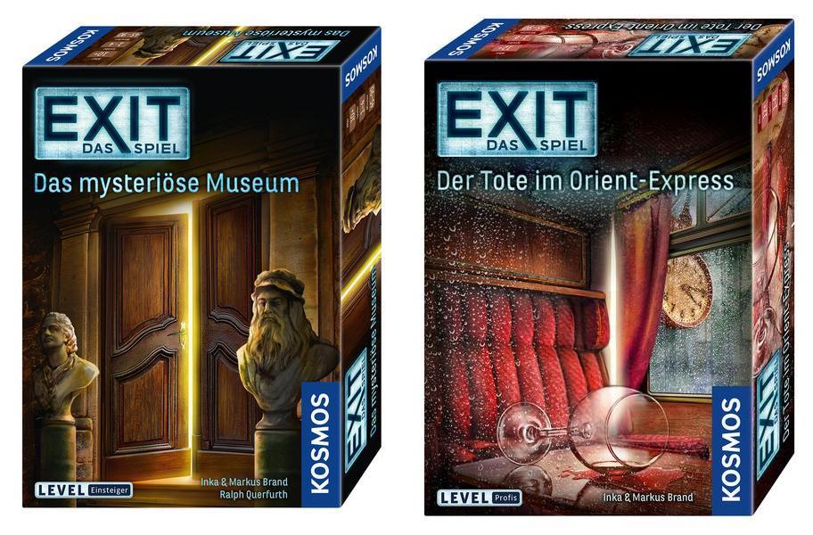 2 Exit-Spiele für 15€, z.B. Das mysteriöse Museum + Der Tote im Orient-Express