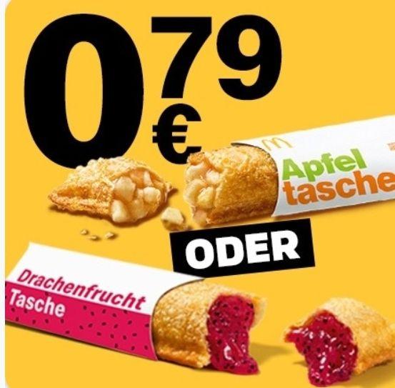 Heiße Apfeltasche oder Drachenfrucht Tasche für 0,79€ [McDonald's App]