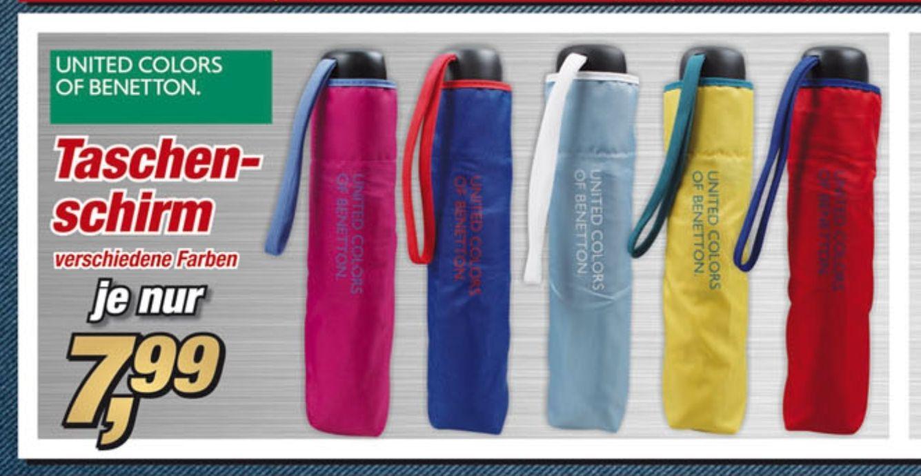 (Postenbörse/Prospekt ) Taschenschirm United colours of benetton. Verschiedene Farben. Super mini