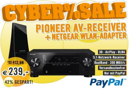 Pioneer VSX-527-K – 5.1 AV-Receiver + Netgear WLAN-Adapter für 239€