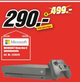[Regional Mediamarkt Holzminden] Microsoft Xbox One X 1TB schwarz für 290,-€ // Nintendo New 2DS XL schwarz-türkis für 90,-€